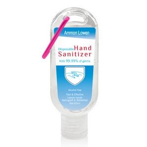 2 oz Hand Sanitizer with Carabiner